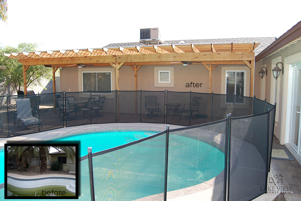 Pool Before and After